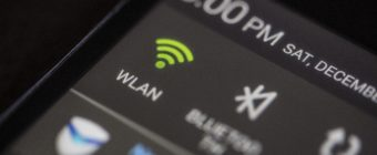 Wi-fi internet signal icon on a smartphone screen.